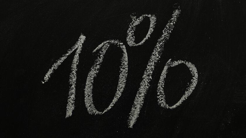 10% jeden Donnerstag